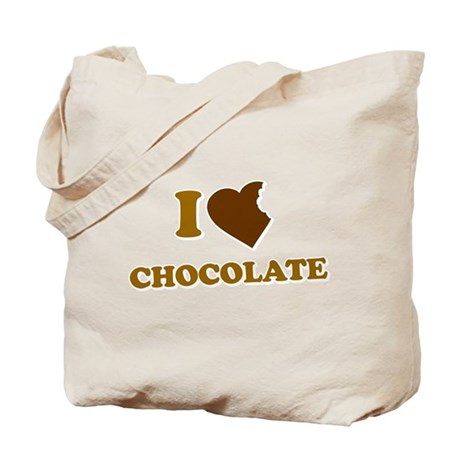 I Love [Heart] Chocolate Tote Bag