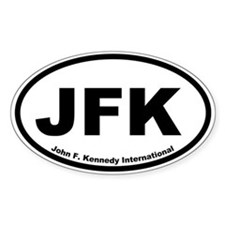 John F. Kennedy International Oval Decal
