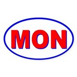 Montreal, Quebec, Canada Oval Bumper Stickers