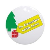 To Grandpa Ornament (Round)