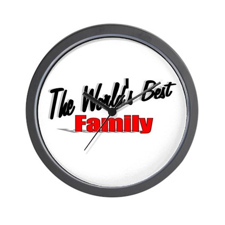 """The World's Best Family"" Wall Clock"
