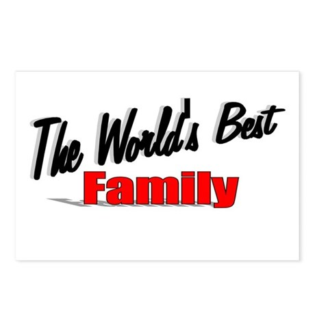 """The World's Best Family"" Postcards (Package of 8)"