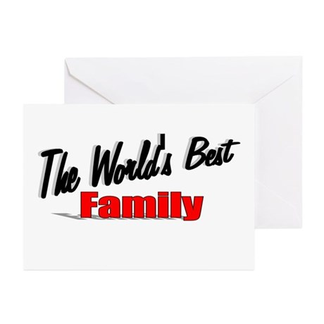 """The World's Best Family"" Greeting Cards (Pk of 20"