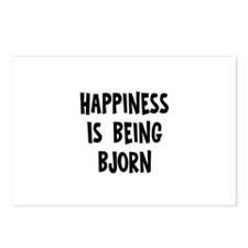 Happiness is being Bjorn   Postcards (Package of 8