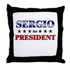 SERGIO for president Throw Pillow