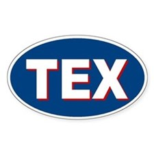 Dallas, Texas Oval Decal