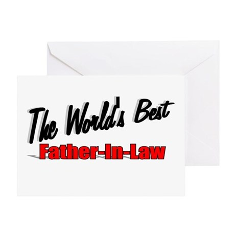 """The World's Best Father-In-Law"" Greeting Card"