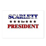 SCARLETT for president Postcards (Package of 8)