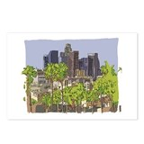 Drawing of downtown LA Postcards (Package of 8)