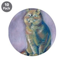 "Nigel - Red Exotic Shorthair 3.5"" Button (10 pack"
