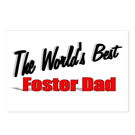 """The World's Best Foster Dad"" Postcards (Package o"