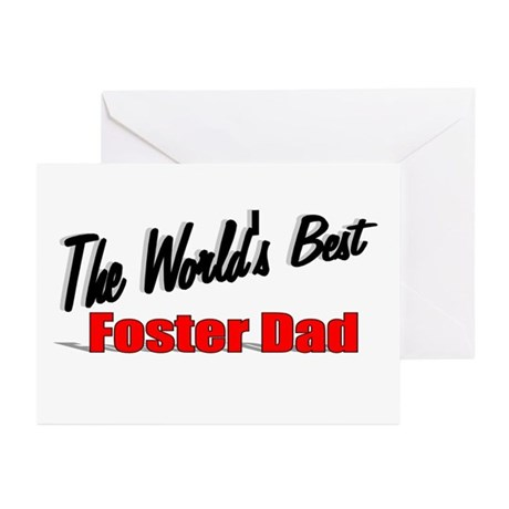 """The World's Best Foster Dad"" Greeting Cards (Pk o"