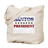 SANTOS for president Tote Bag