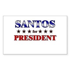 SANTOS for president Rectangle Decal
