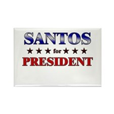 SANTOS for president Rectangle Magnet