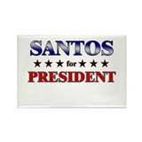 SANTOS for president Rectangle Magnet (10 pack)