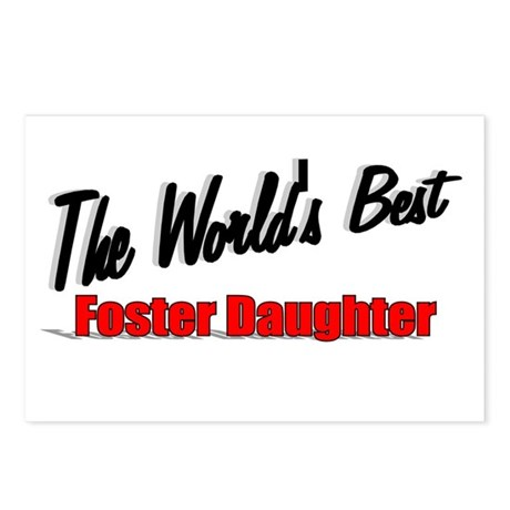 """The World's Best Foster Daughter"" Postcards (Pack"