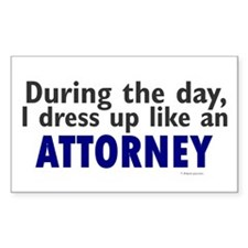Dress Up Like An Attorney Rectangle Decal