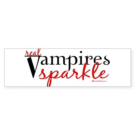 Real Vampires Sparkle Bumper Sticker