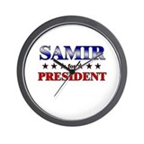 SAMIR for president Wall Clock