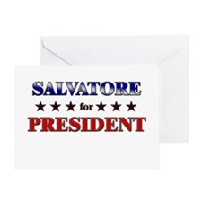 SALVATORE for president Greeting Card