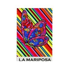 La Mariposa Rectangle Magnet