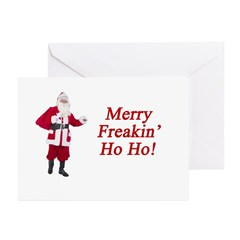 Merry Freakin' Ho Ho! Greeting Cards (Pk of 20)