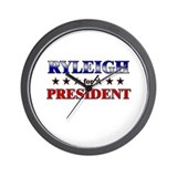 RYLEIGH for president Wall Clock