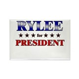 RYLEE for president Rectangle Magnet (10 pack)