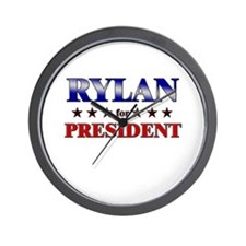 RYLAN for president Wall Clock