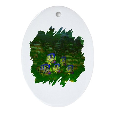 Angel Fish Oval Ornament