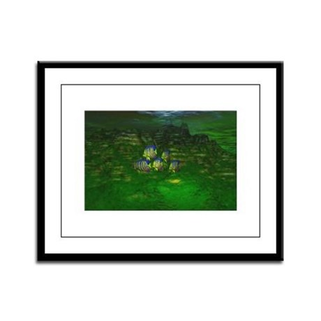 Angel Fish Framed Panel Print