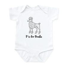 P is for Poodle Infant Bodysuit
