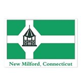 New Milford CT Flag Postcards (Package of 8)