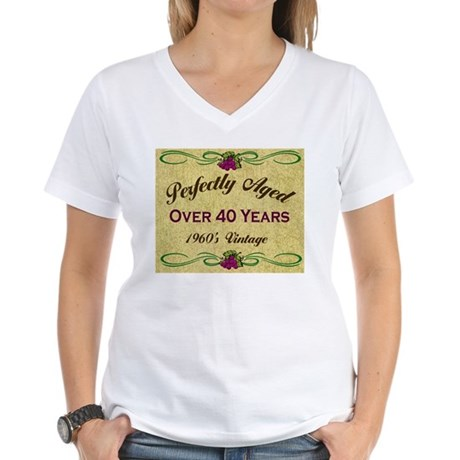 Over 40 Years Women's V-Neck T-Shirt