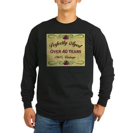 Over 40 Years Long Sleeve Dark T-Shirt