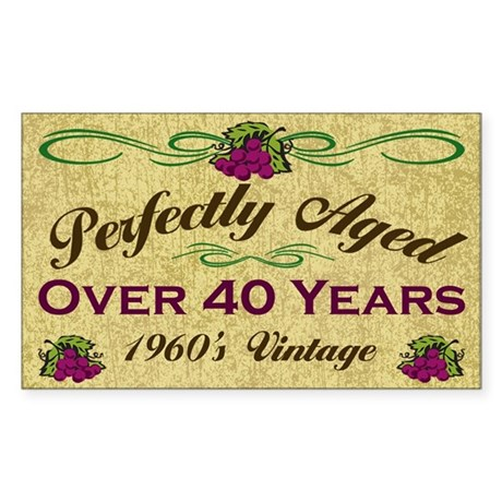 Over 40 Years Rectangle Sticker