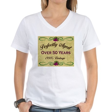 Over 50 Years Women's V-Neck T-Shirt