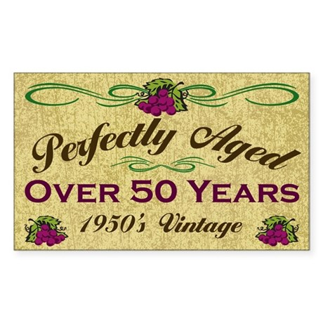 Over 50 Years Rectangle Sticker