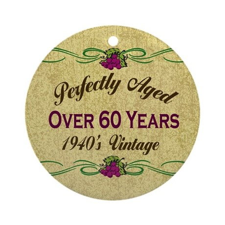 Over 60 Years Ornament (Round)