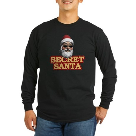Secret Santa Long Sleeve Dark T-Shirt