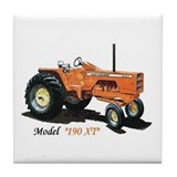 Antique Tractors Tile Coaster