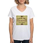 Over 100 Years Women's V-Neck T-Shirt