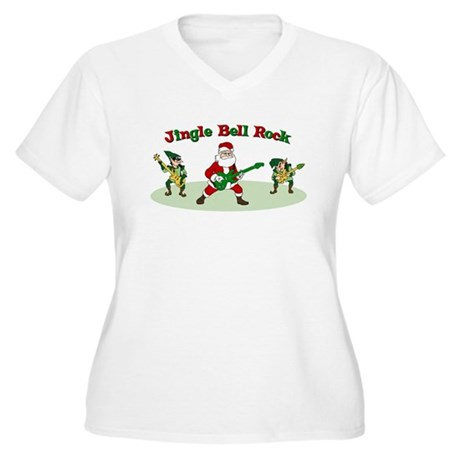 Jingle Bell Rock Women's Plus Size V-Neck T-Shirt