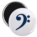Dark Blue Bass Clef Magnet