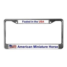 Foaled in the USA License Plate Frame