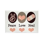 Heal Nurse Doctor Rectangle Magnet (10 pack)