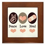 Heal Nurse Doctor Framed Tile