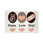 Heal Nurse Doctor Rectangle Magnet