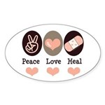 Heal Nurse Doctor Oval Sticker